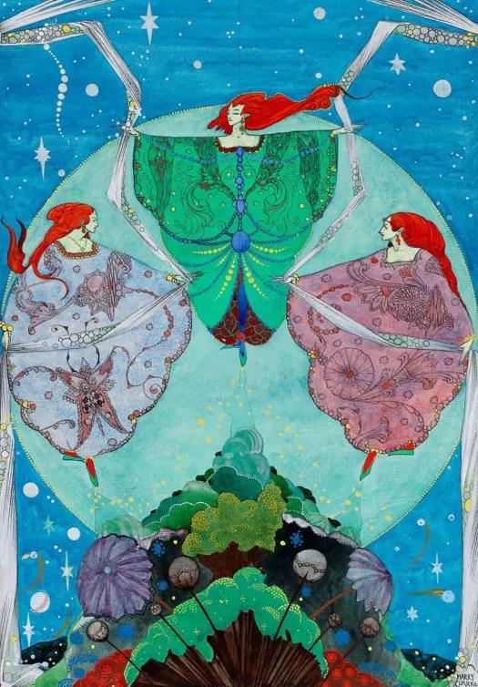Illustrator Harry Clarke The Elf Hill 1916 art nouveau