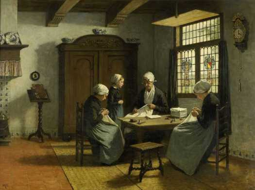 In-The-Orphanage-at-Katwijk-Binnen-by-David-Adolph-Constant-Artz-c1870-c1890-3000x2232