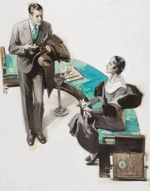 In the Office, August Bleser Jr (1898-1966), 1930