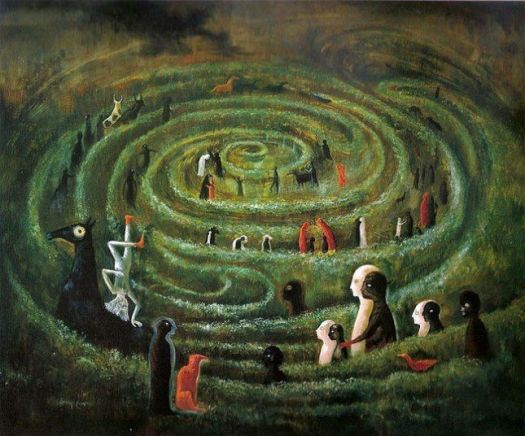 Labyrinth, 1991 by Leonora Carrington, UK-born Mexican artist, surrealist painter, and novelist