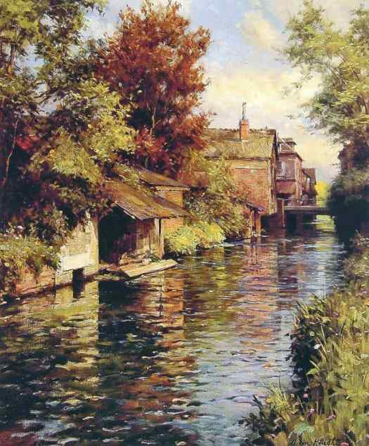 Louis Aston Knight - Sunny Afternoon on the Canal