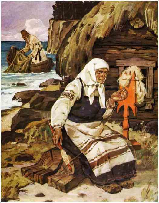 Nikifor Rashchektayev - The Tale of the Fisherman and the Fish spinning