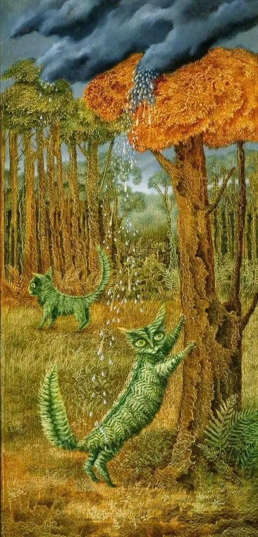 Remedios Varo - The Fern Cat (El Gato Helecho), 1957
