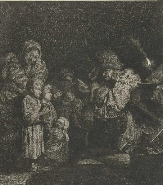 Sinterklaas-eve, Simon Andreas Krausz, 1770 - 1825