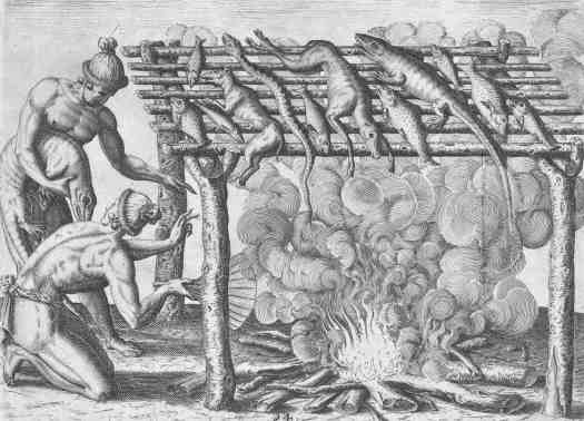 Smoking Animals, Theodor de Bry, after Johann Theodor de Bry, 1591 fire