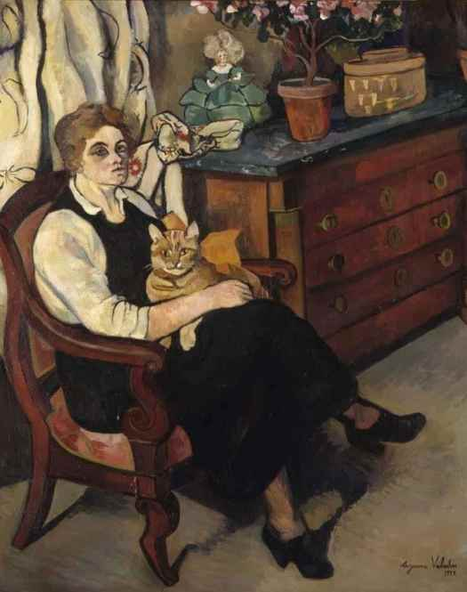 Suzanne Valadon (1865 - 1938) Woman with Cat