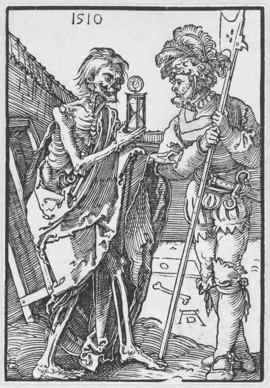 The Soldier and Death, Albrecht Dürer, 1510 time death