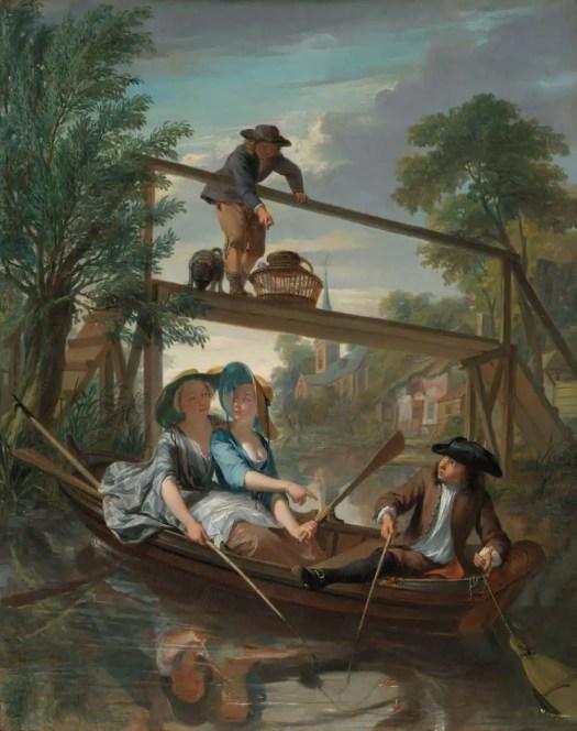 The anglers, Nicolaas Verkolje, c. 1744