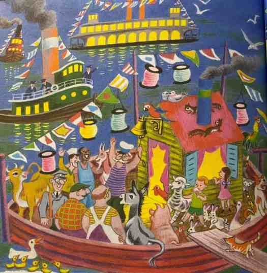 Tibor Gergely, The Merry Shipwreck by Georges Duplaix, 1942 deck