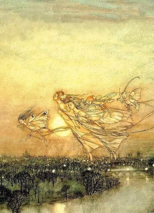 Twilight Dreams, Arthur Rackham,1913