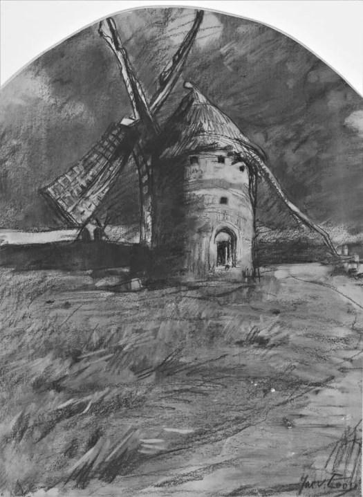 Dilapidated windmill, Jac van Looij, 1865 - 1930