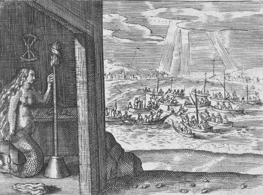 Zeemeermin van Edam spinnend in een huisje, 1403, anonymous, 1643 - 1645