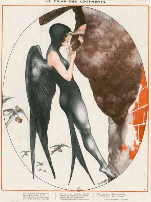drawings of ′La Vie Parisienne (magazine published between 1863 and 1970) by illustrator Chéri Hérouard
