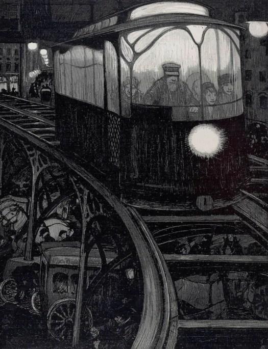Adolf Münzer 'Die Elektrische' (The Electric) Jugend number 2, 1900 train