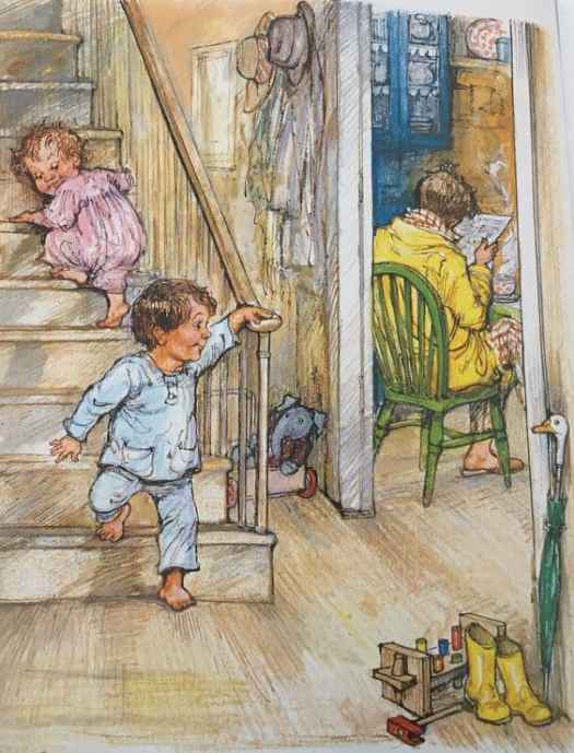 Here's a similar view, from Alfie and Annie Rose by Shirley Hughes