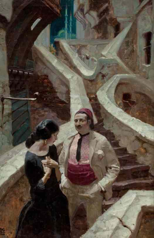 Dean Cornwell (1892 - 1960) 1924 illustration 'The City of Temptation' by Sir Philip Gibbs for Cosmopolitan magazine