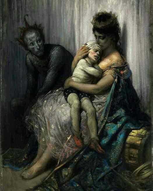 Gustave Doré 1832 - 1883, French, The Family Of Street Acrobats