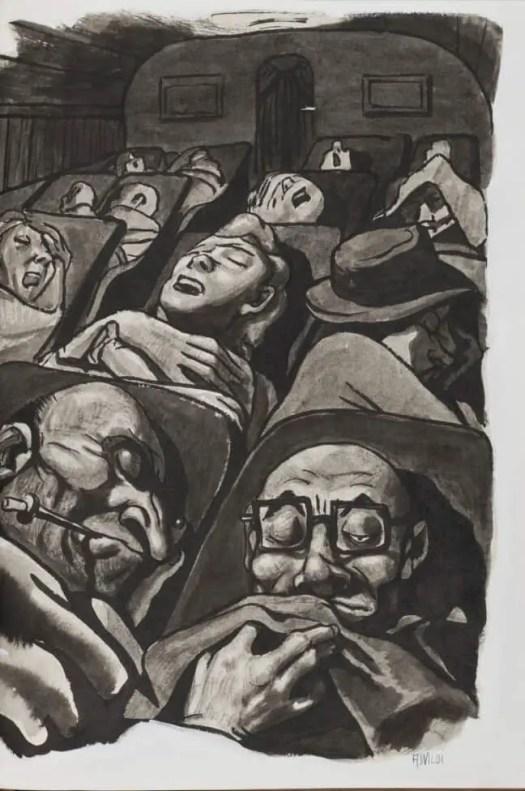 Illustration by Achille Wildi, circa 1955