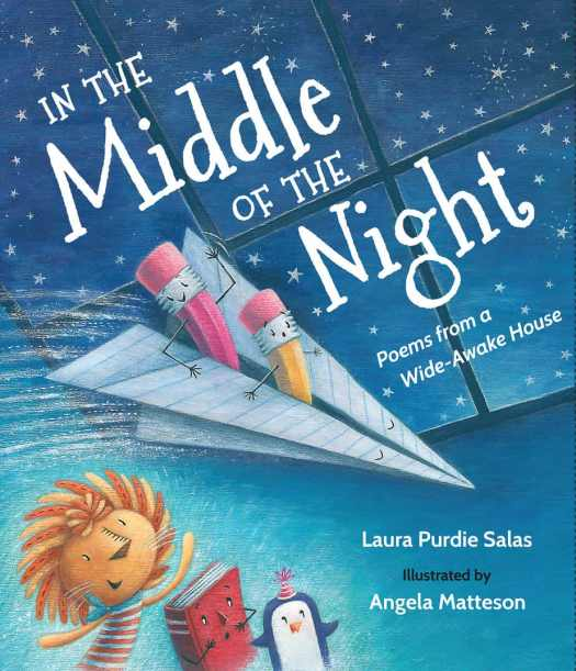 In The Middle Of The Night by Laura Purdie Salas and Angela Matteson paper dart