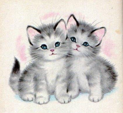Marjorie L. Cooper (American, 1910-1999), pen name Elizabeth Webbe, An illustration from the book 'The Kitten Twins' 1960