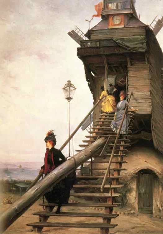 Paul-François Quinsac - Moulin de la Galette 1887 windmill