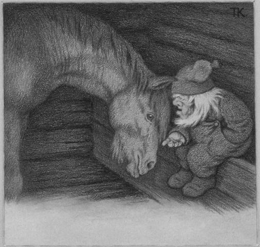 The Horse and The Goblin 1905 Theodor Kittelsen tomte barn