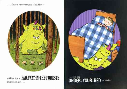 When a Monster is Born by Nick Sharratt, Sean Taylor two types of picture book monster