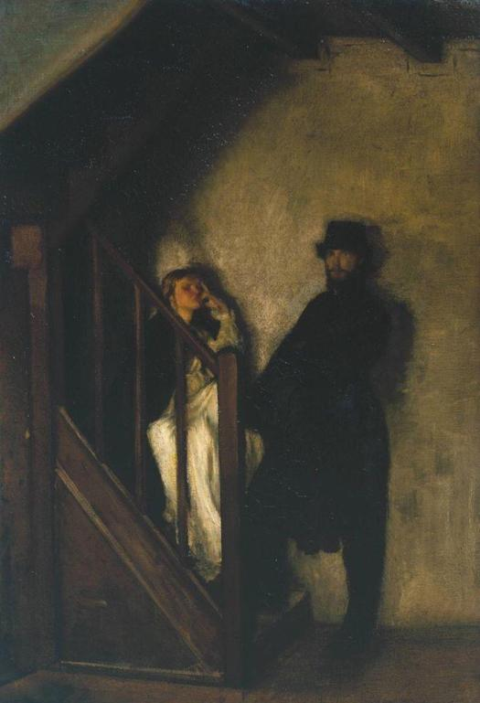 William Rothenstein, The Doll's House, 1899–1900 staircase shadows