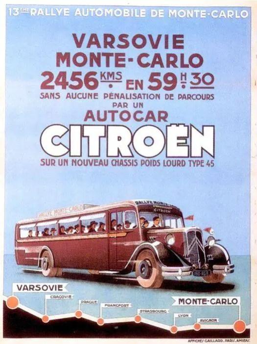 Poster Art  1933  Autocar Citroën bus