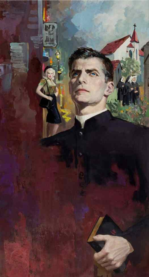 Robert Maguire (American, 1921–2005), The world, the flesh and Father Smith, paperback cover 1960