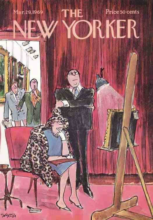 Charles Saxon (1920-1988) for a New Yorker cover 1969 gallery