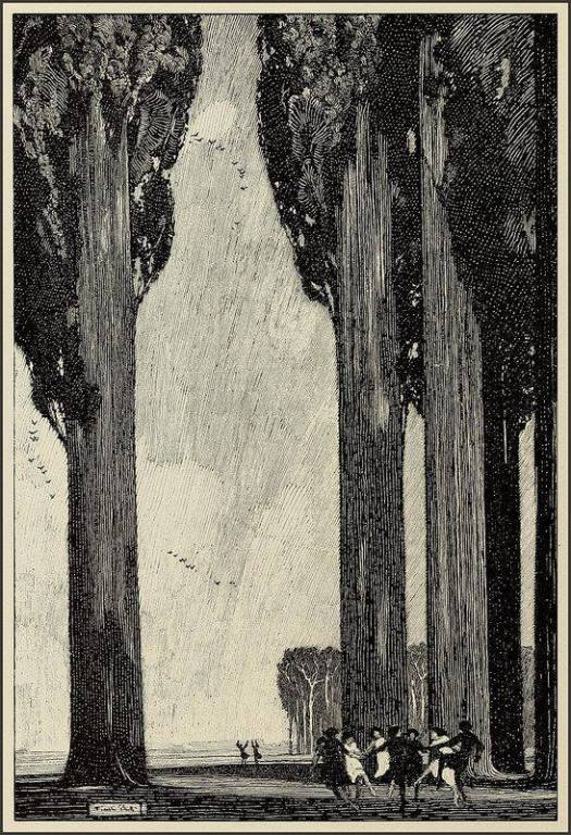 Franklin Booth 'The Trees' 1920