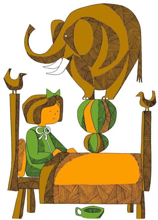 João da Câmara Leme, Girl and Elephant