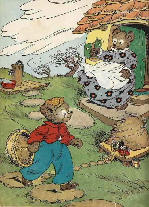 Little Brown Bear and the March Wind by Elizabeth Upham, illustrated by Marjorie Hartwell. 1955