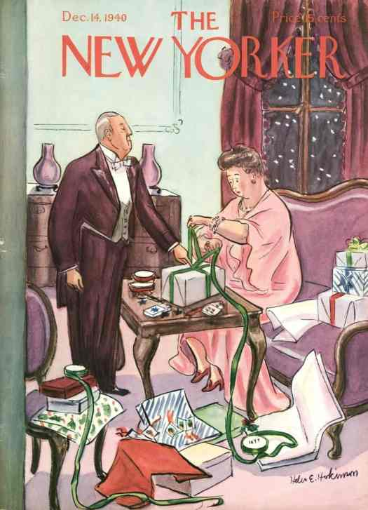 New Yorker, Dec 14, 1940. Cover by Helen Hokinson
