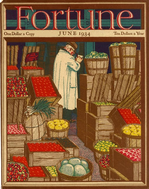 1934 June, cover by Pierre Brissaud market