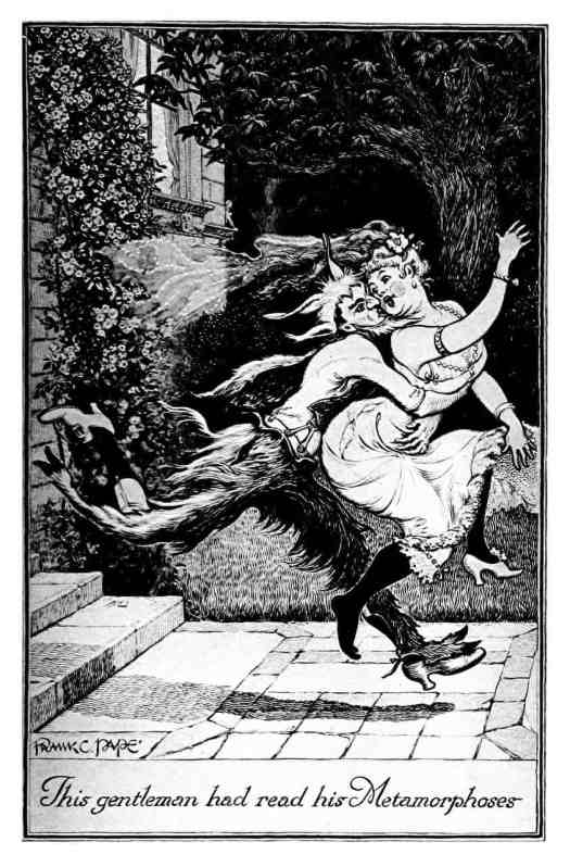 Frank C. Papé (4 July 1878 – 5 May 1972) satyr kidnapping a woman