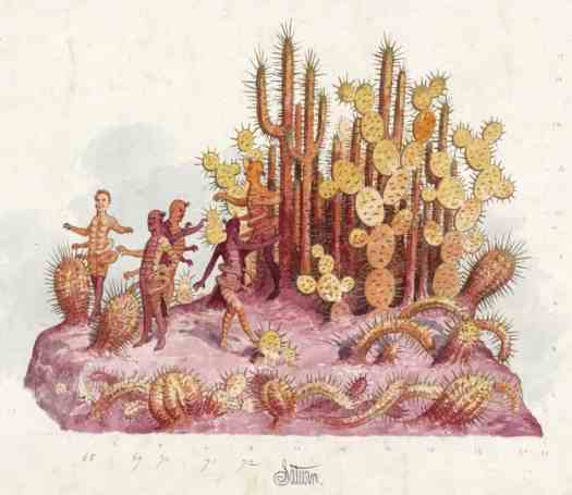 Saturn float design by Carlotta Bonnecaze for the Visions of Other Worlds theme, Krewe of Proteus, 1886 cactus