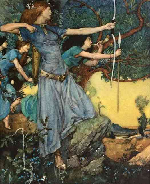 William Russell Flint illustration for Le morte Darthur the book of King Arthur and of his noble knights of the Round table by Sir Thomas Malory, Knt