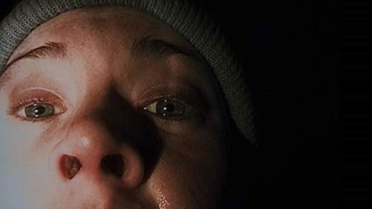 The memorable Blair Witch selfie with close up of nose