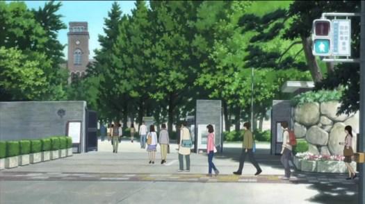 Wolf Children University crossing the road