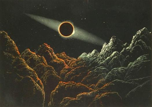 Aspect of an Eclipse of the Sun by the Earth as it would appear as seen from the Moon Vincent Brooks, Day & Son (Nasmyth Murray), London, 1874
