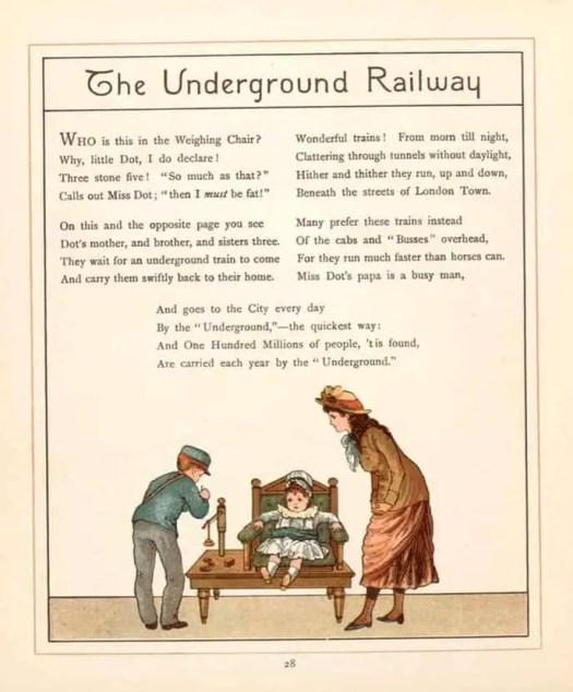 Walter Crane 1845 - 1915 London Town The Underground Railway 1883