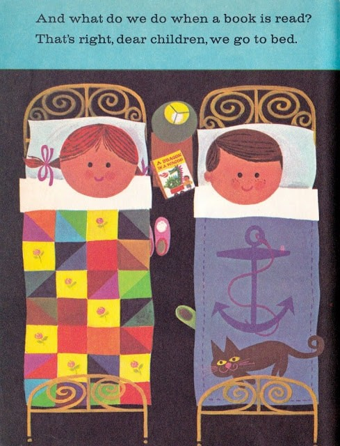 A Dragon in a Wagon by Janette Rainwater, illustrated by John Martin Gilbert (1973) children in bed