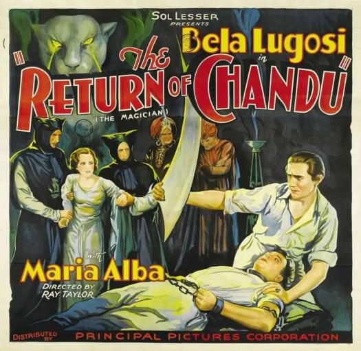 Bela Lugosi in The Return of Chandu six-sheet (81x81) movie poster (1934)