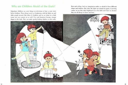 Easy Answers to Hard Questions pictures by Susan Perl text by Susanne Kirtland (1968) why are children afraid of the dark