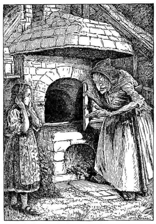 Hansel and Gretel wicked witch for a Grimm Collection, illustrated by Jessie Wilcox Smith