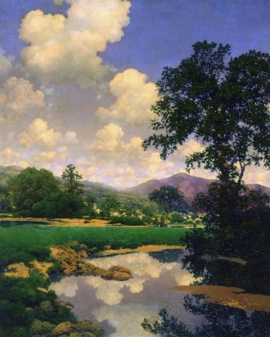 Maxfield Parrish (1870-1966), June Skies, 1940