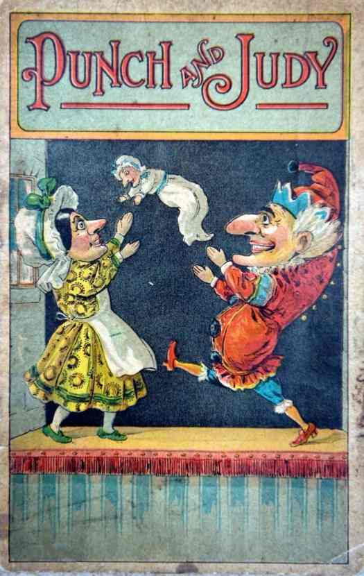 Punch and Judy throwing a baby
