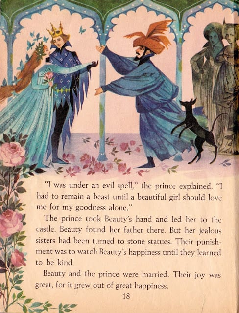 The Blue Book of Fairy Tales illustrated by Gordon Laite (1959) Beauty and the Beast